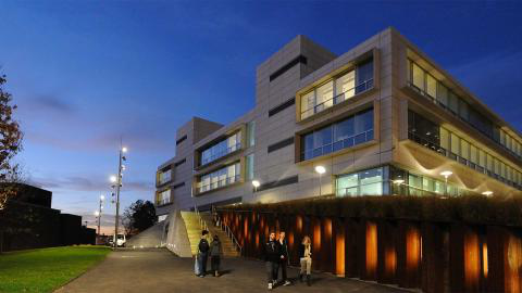 photo: Spitzer School of Architecture at twilight