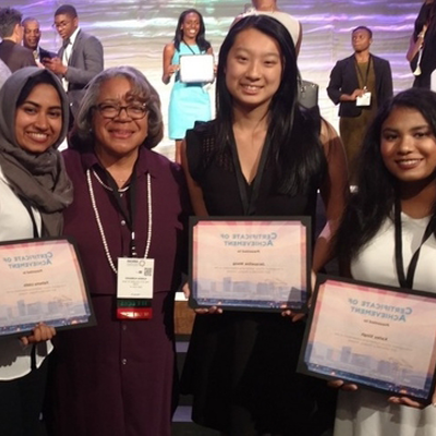 CCNY students with awards