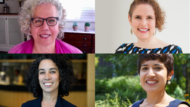 CUNY-IIE's leadership team [clockwise from the top] Tatyana Kleyn, Nancy Stern, Ariana Mangual Figueroa and Cynthia Nayeli Carvajal.